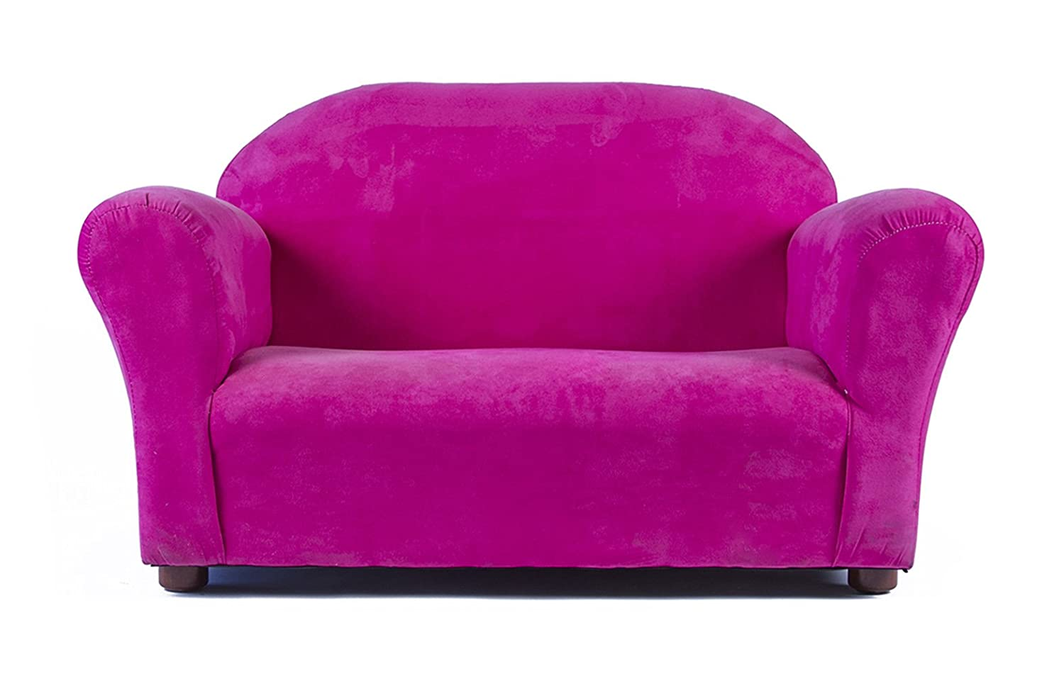 Keet Roundy Microsuede Childrens Sofa, Hot Pink