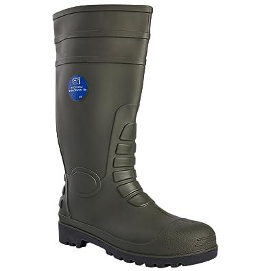 8d7290710a2 Unisex Steel Toe Cap Wellingtons Mens Womens Ladies Safety Waterproof Anti  Slip Anti Static Sole Work Boots Oil & Penetration Resistant Hardwearing ...