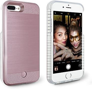 coque iphone 7 plus lumineuse rose