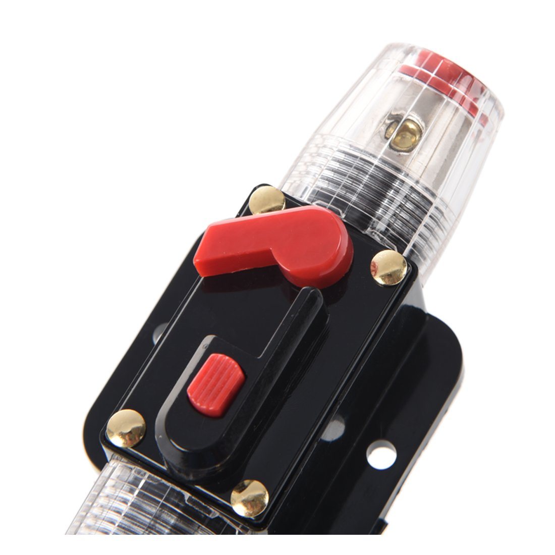 30A Car Audio Inline Circuit Breaker Fuse Holder 12v-24v System Protection Black SODIAL R
