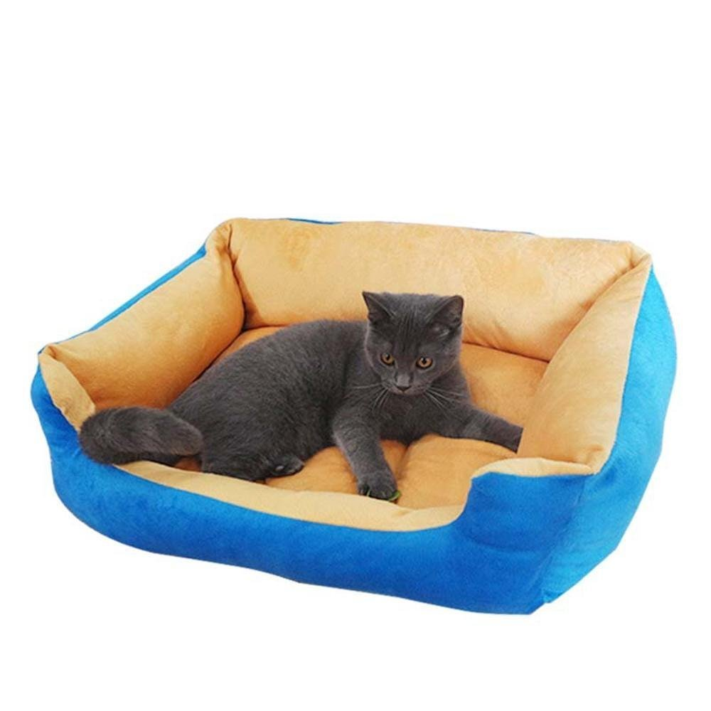 A 655020cmWUTOLUO Pet Bolster Dog Bed Comfort Cloth Pet Mat Winter warm kennel cat nest (color   A, Size   65  50  20cm)