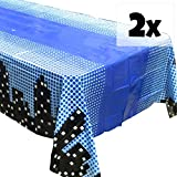 Blue Orchards Superhero Cityscape Tablecovers (2), Boys' Birthdays, Superhero Party Supplies