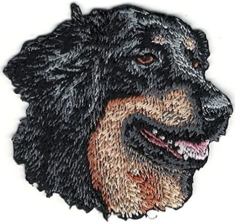 """2/"""" x 2 1//4/"""" Hovawart Dog Breed Portrait Looking Left Embroidery Patch"""