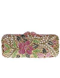 Fawziya Flower Purses For Girls Bling Rhinestone Crystal Clutch Bag