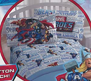 Marvel Heroes Twin Sheets
