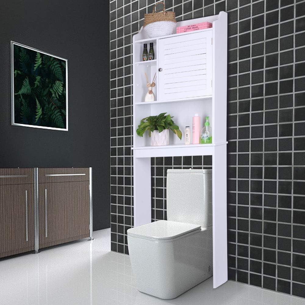 Bonnlo - Organizador para baño con Puerta para Inodoro (22 3/8 ...