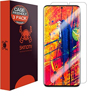 Skinomi Screen Protector Compatible with Samsung Galaxy S20 Plus (S20+ 6.7 inch)(3-Pack)(Case Compatible) Clear TechSkin TPU Anti-Bubble HD Film