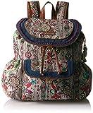 Sakroots Women's Artist Circle Flap Backpack, Charcoal Spirit Desert