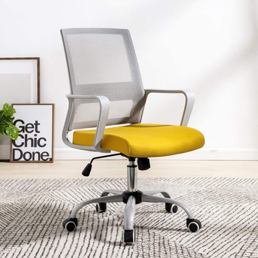 Amazon Com Lsx Swivel Chair Swivel Chair Simple Work Leisure Chair Home Office Computer Lift Swivel Chair 4 Colors To Choose From Computer Color Yellow Kitchen Dining