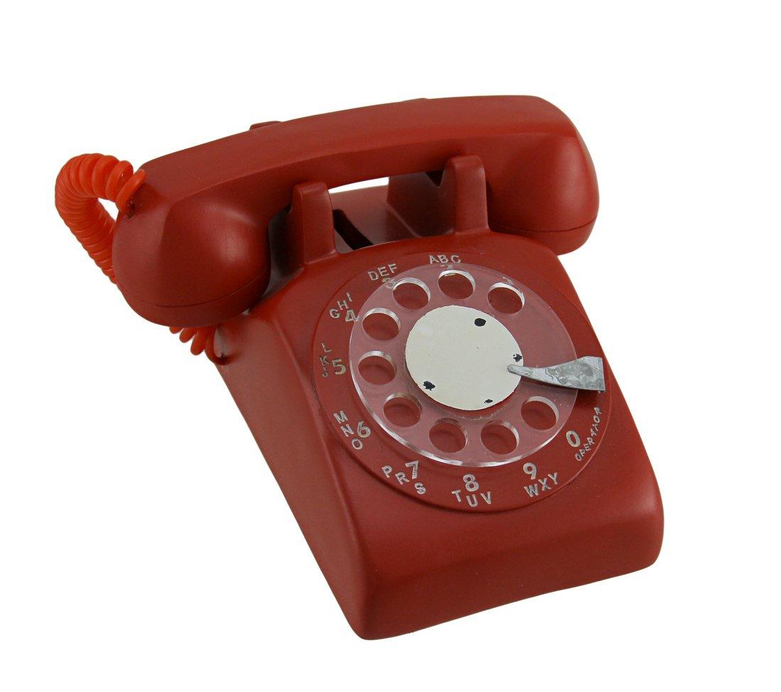 Zeckos Red Retro Rotary Dial Telephone Coin Bank by Zeckos