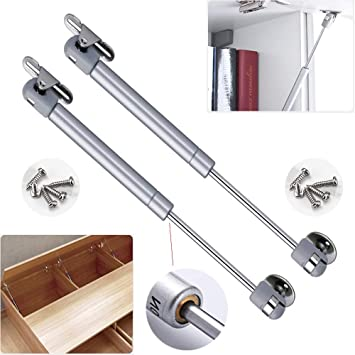 2//4Pcs Gas Strut Lid Stay Support Kitchen Cabinet Door Hinge Open Close 50N
