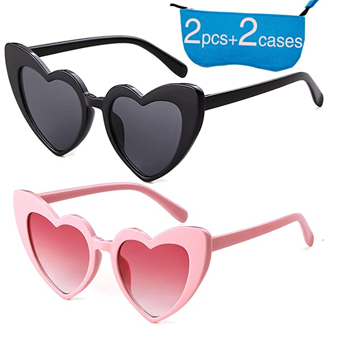 2cc94e3a32d82 Retro Vintage Clout Goggle Heart Sunglasses Cat Eye Mod Style for Women  Kurt Cobain Glasses Plastic