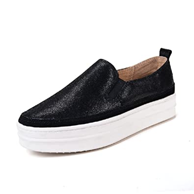Women's Fashion Platform Slip on Skate Shoes Comfort Loafers