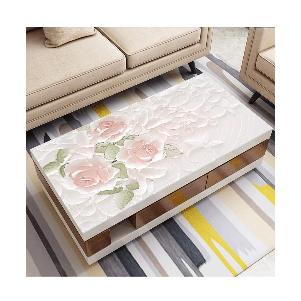 LIGONG レストランのデスクトッププロテクターシンプルなpvc柔らかいガラステーブルマットテーブルクロスに適しテーブルコーヒーテーブルピンクマルチサイズ (サイズ さいず : 85*135cm) 85*135cm  B07S3QFZG8