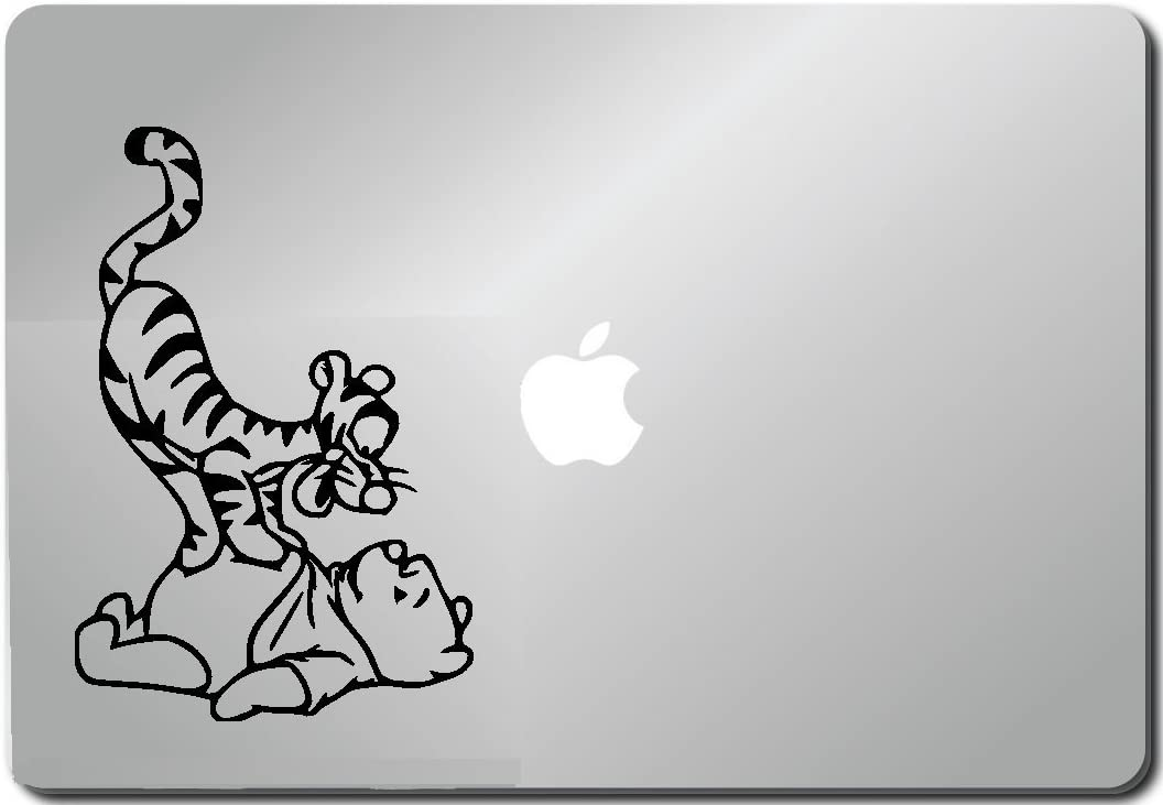 Tiger and Pooh Computer Skin Apple Sticker Laptop Sticker Macbook Decal Computer Sticker Macbook 13 Inch Vinyl Decal Sticker Skin Cover Computer Sticker Computer Decal Decal Mac Decal for Mac Laptop Sticker Laptop Decal Newest Version Macbook Pro Laptop Quotes