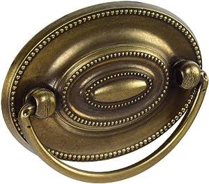 "Knob Deals #1165 Furniture Dresser Pull, Oval, 2-1/4"" c - c, Antique English Finish - 25 Pack"