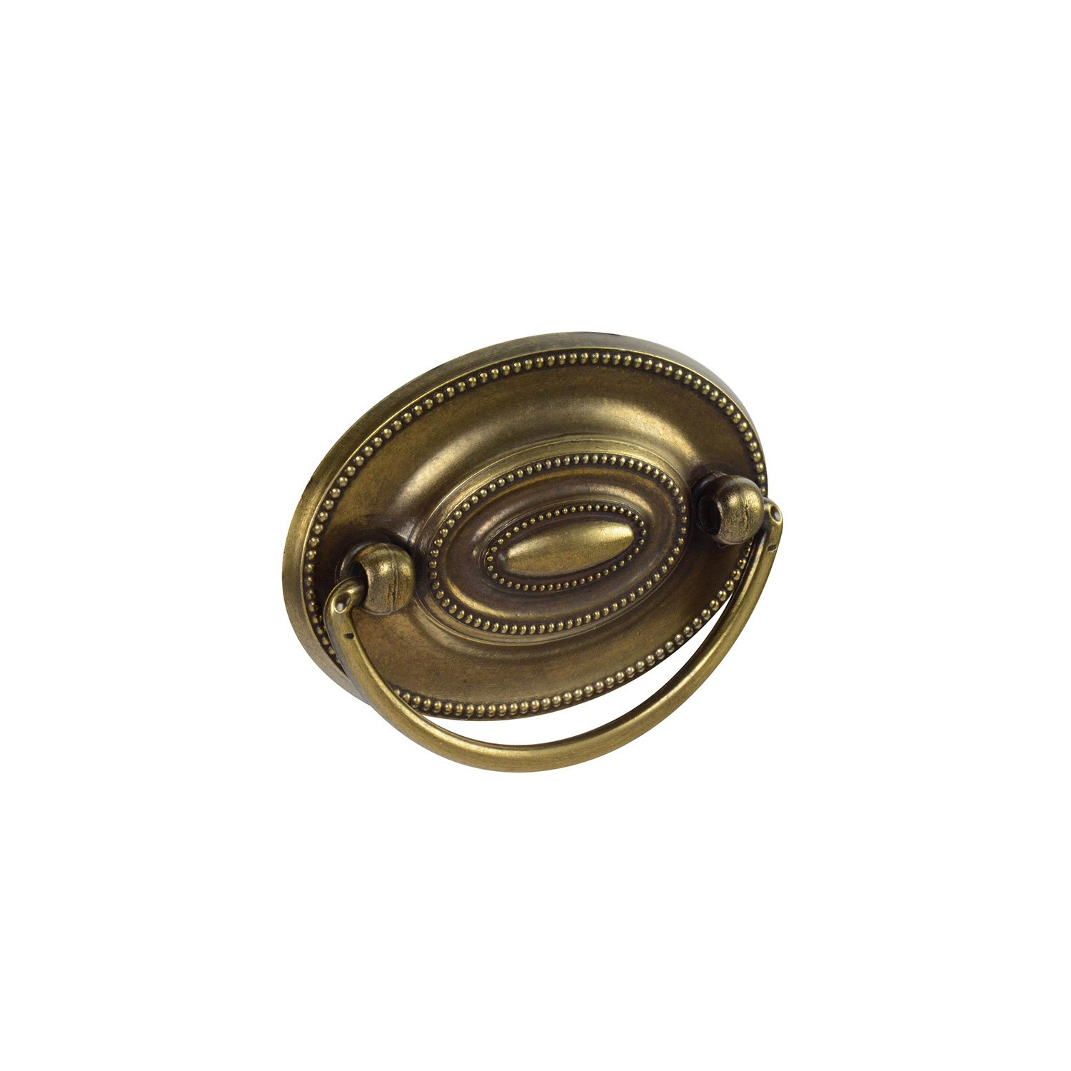 """Knob Deals #1165-2-1/4"""" (57mm) Center to Center Drawer Pull, Antique English - 10 Pack"""