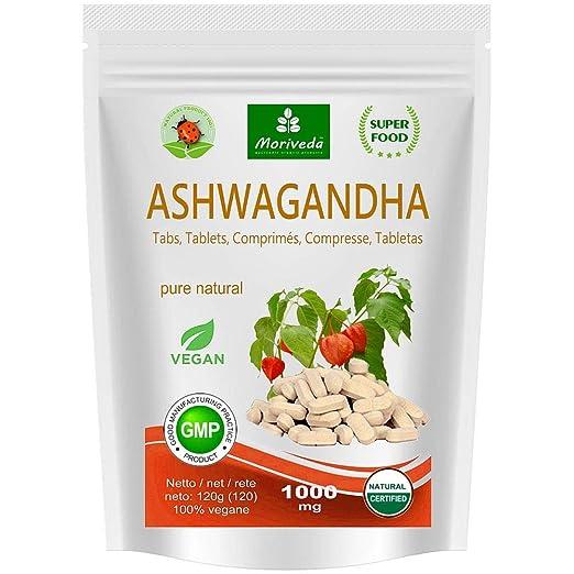 Ashwagandha cápsulas 600 mg o tabletas 1000 mg - producto natural puro en la mejor calidad - cereza de invierno, ginseng indio (120 cápsulas): Amazon.es: ...