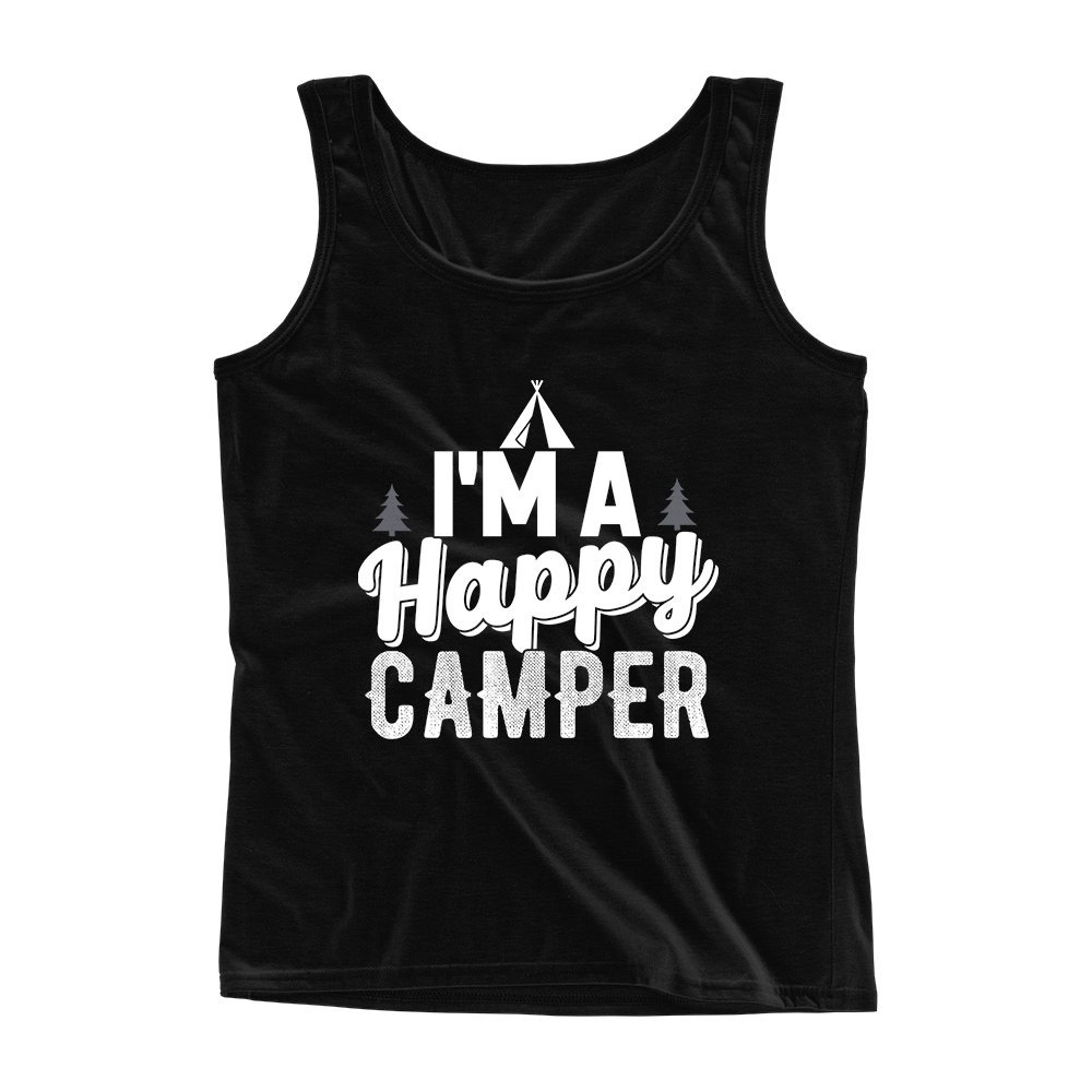 Mad Over Shirts Im a Happy Camper Unisex Premium Tank top