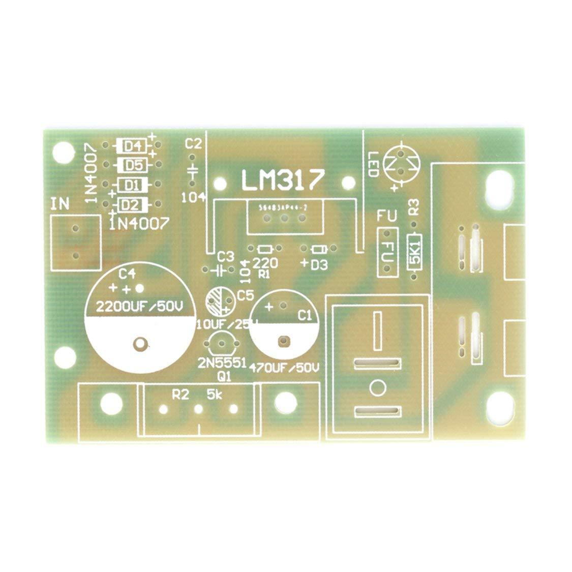 LM317 Step Down DC 5V-35V to 1.25V-30V DIY Kit AC//DC Power Supply US SELLER