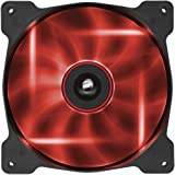 Corsair CO-9050017-RLED Air Series AF140-LED Quiet Edition 140mm High Airflow LED Lüfter, Rot
