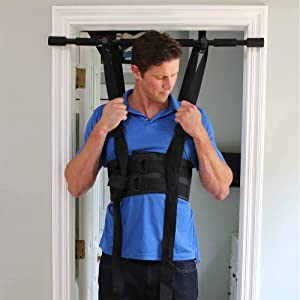 Sit and Decompress Back Stretcher. Lumbar Traction Inversion Table Alternative. Increase Disc Space by 50%. (Large Harness) Hang Bar Not Included