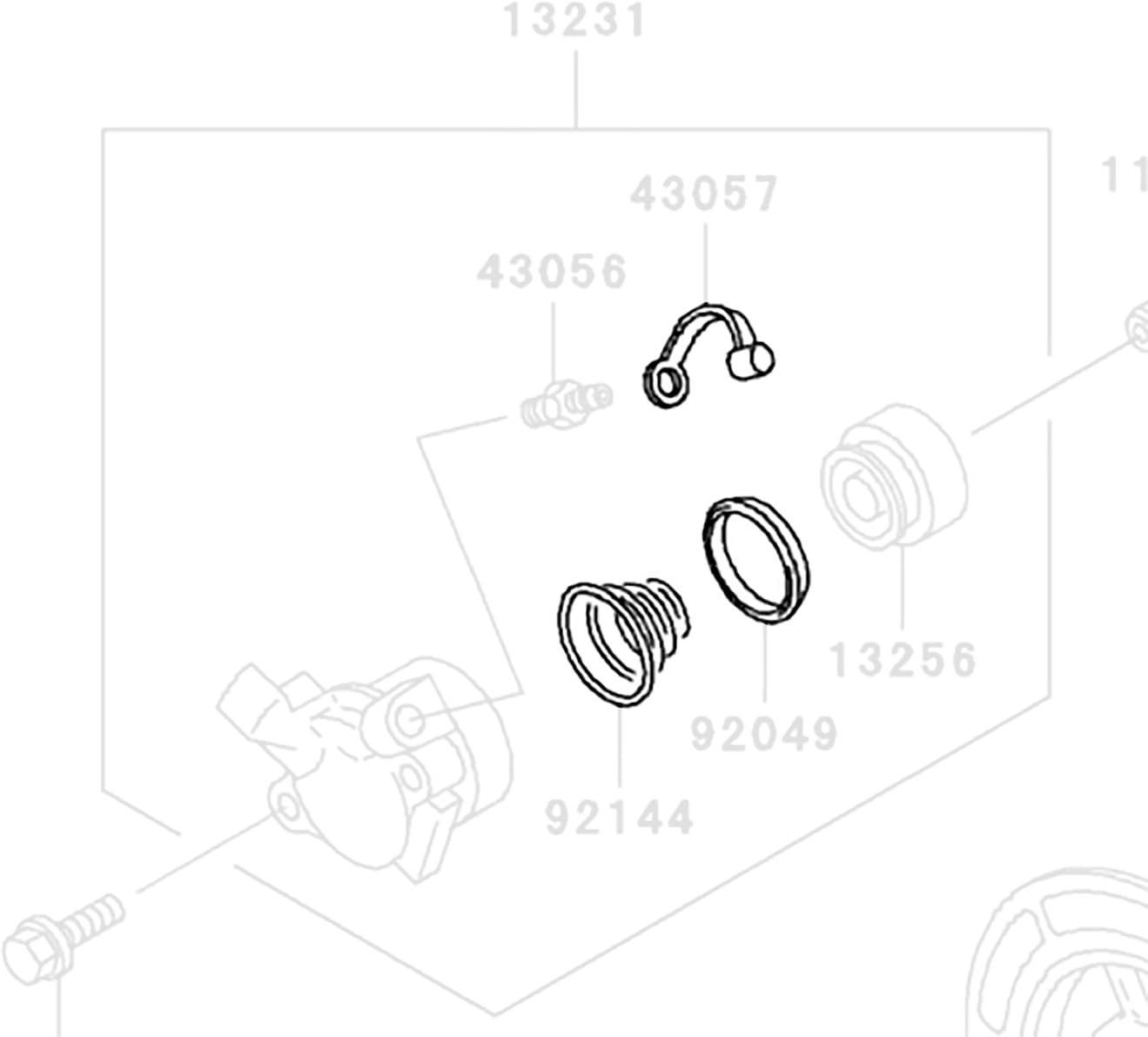 DP 0108-007 Clutch Slave Cylinder Rebuild Repair Parts Kit Fits Kawasaki Triumph
