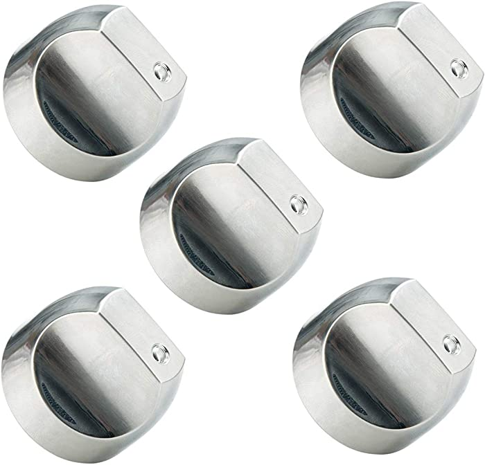 WB03T10329 WB03X32194 Cooktop Range Burner Control Dial Knob Appliances parts for GE. Stove/Range Stainless Steel. Replace WB03T10329, WB03X25889, WB03X32194, AP5985157, 4920893 (5pcs)
