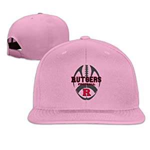 ElishaJ Flat Bill Rutgers University Trucker Cap Hats Pink