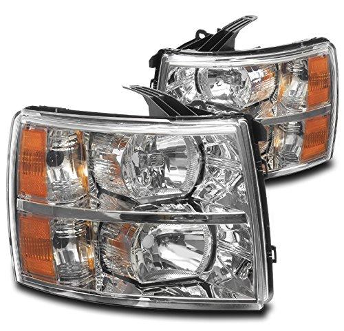 - 2007-2013 Chevy Silverado / 2007-2014 2500 HD / 3500 HD Crystal Headlights - Chrome