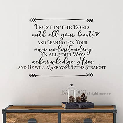 Amazon Com Battoo Bible Verse Quotes Trust In The Lord With All