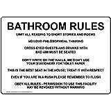 Amazon com: Bathroom Etiquette 12