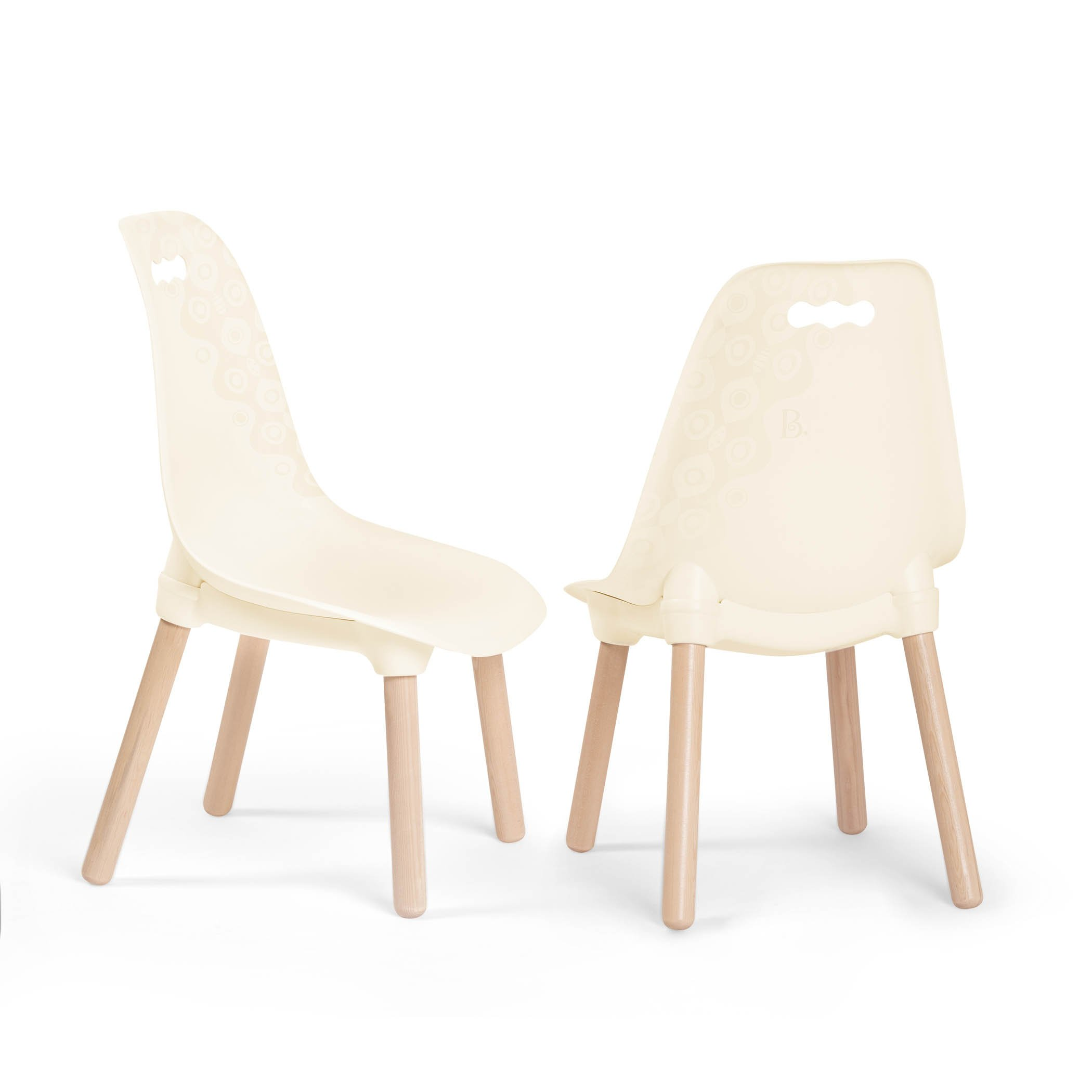 B. spaces by Battat Kid Century Modern: Trendy Toddler Chair Set of Two Kids Chairs – Kids Furniture Set for Toddlers and Kids – Ivory