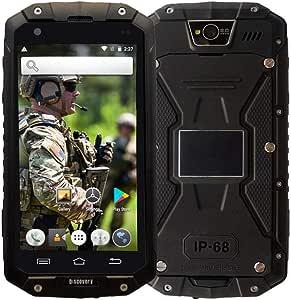Smartphone Robusto, Discovery V9 3G Dual SIM móvil Resistente al Aire Libre Android 5.1 Impermeable IP68 Antipolvo antigolpes GPS/WiFi-Negro: Amazon.es: Electrónica