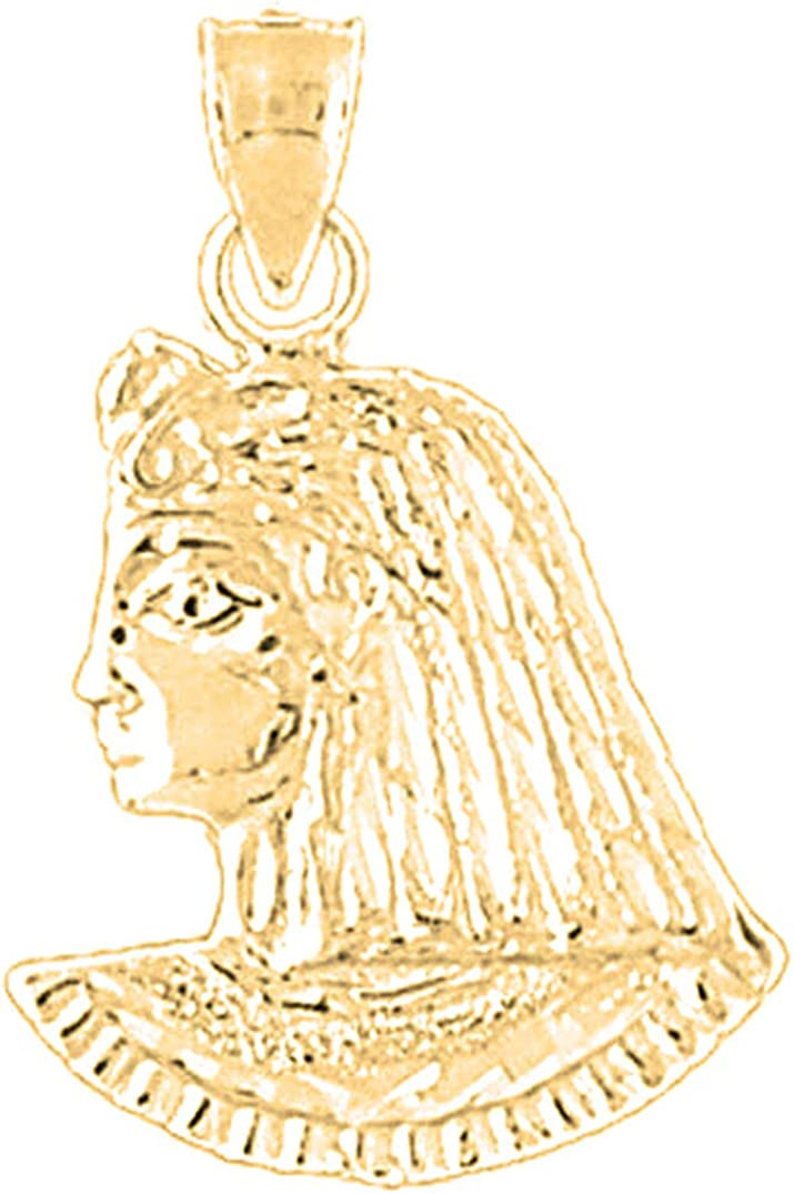 14K Yellow Gold-plated 925 Silver King Tut Pendant Jewels Obsession Silver King Tut Pendant