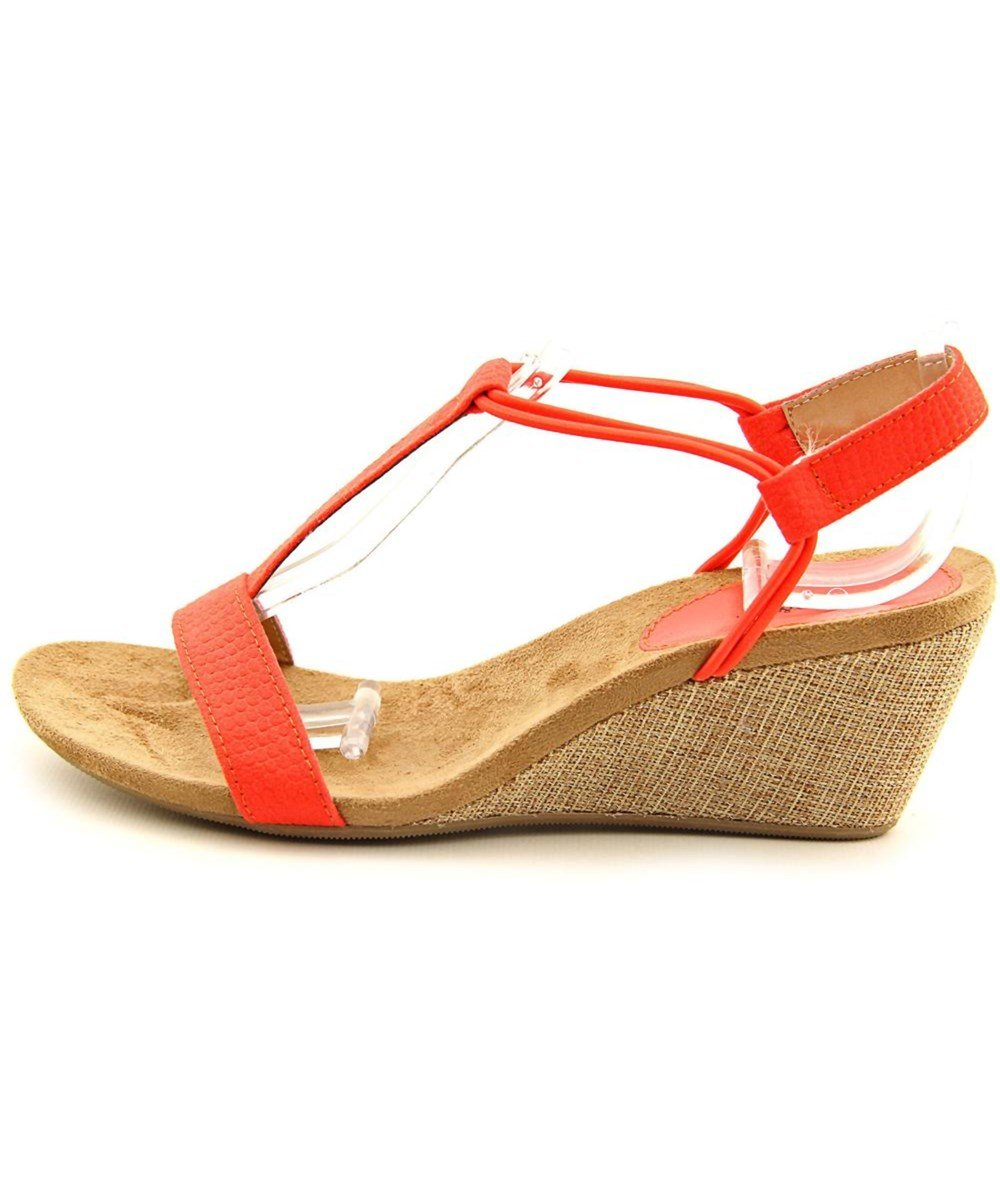 Style & Co... Womens Mulan Open Toe Casual Platform, Bright Coral, Size 8.0