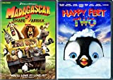 Family Fun Animation Sequel Set: Madagascar 2: Escape 2 Africa & Happy Feet 2 2-Movie Bundle