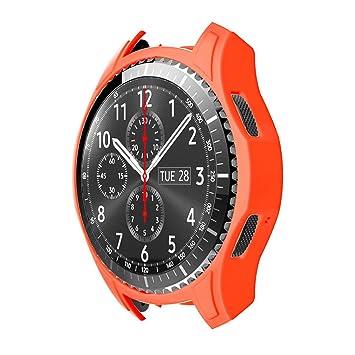 STRIR Carcasa para Smartwatch Gear,a Prueba de Golpes y Suciedad, para Smartwatch Samsung Gear S3 Frontier (Naranja)