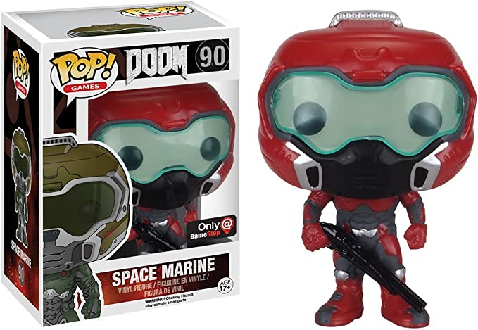 Funko Pop! Games DOOM Elite Space Marine #90 (Exclusive) by FunKo: Amazon.es: Juguetes y juegos