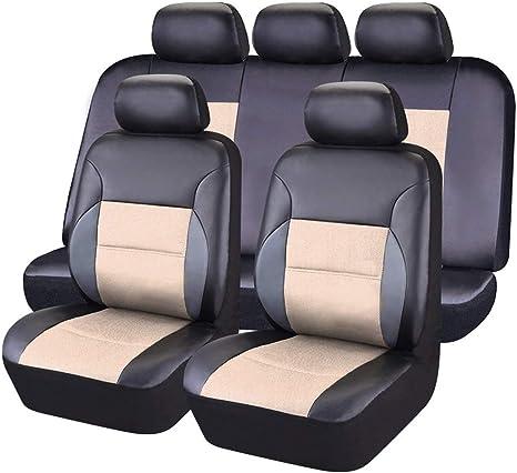 CAR PASS Coprisedili Universali per Auto Set Completo di Fodere per Seggiolino Auto 11 Pezzi Protezioni per la Parte Anteriore e Posteriore del Sedile