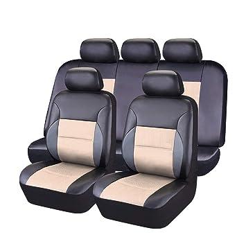 Car Pass Universal Sitzbezüge Aus Pvc Leder Kompletter Satz Mit 5 Sitzen Auto