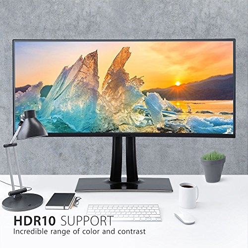 "ViewSonic VP3881 38"" Frameless IPS UltraWide QHD+ 2300R Curved Monitor HDR10, HDMI, DisplayPort, USB Type C"