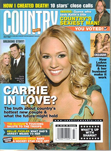 Carrie Underwood Country Weekly Magazine (July 2, 2007)