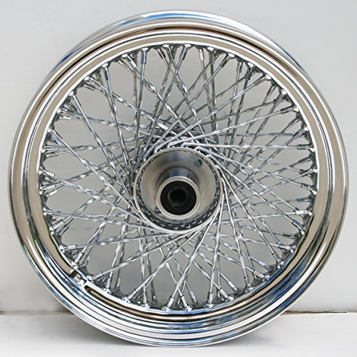 [ULTIMA Ulitma 80 Twisted Spoke Front Chrome Wheel for pre 99 Harley FXST/FXDWG 36-349] (Chrome Harley Wheels)