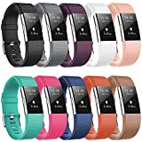 For Fitbit Charge 2 Bands Wristbands CreateGreat Silicone Replacement Charge 2 Accessory Original Color Print Pattern Bands Strap for Large or Small Size