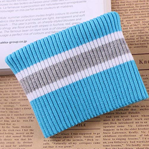 Fabric - 1 Pair 16x7cm Cotton Yarn Dyed Stripes Stretch Cuff DIY Cotton Knitted Fabric for Neckline Clothing Accessories -