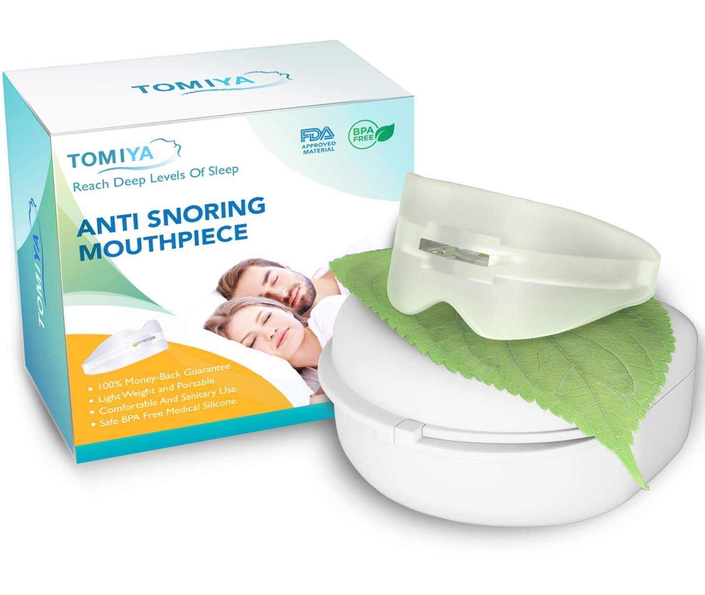 Snore Stopper Mouthpiece - Snoring Solution, Sleep Aid Night Mouth Guard Bruxism Mouthpiece, Best