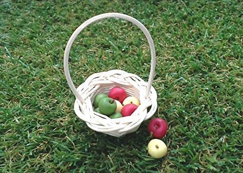 Miniature Apples fruit basket for Fairy Mini Garden or Doll House