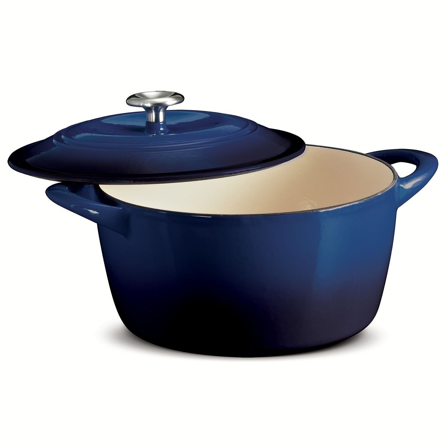 TRAMONTINA 6.5 Qt ROUND Dutch Oven Cobalt Blue Enameled Cast Iron