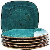 Tuxton Home THGGE502-6B Artisan Dinner Plate, 11-Inch, Geode Azure Teal